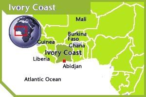 Cote-d'Ivore location